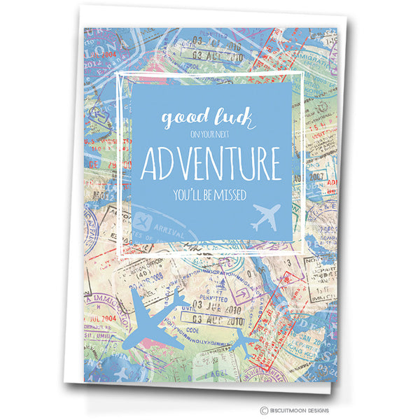 Map Amp Passport Good Luck On Your Next Adventure Leaving