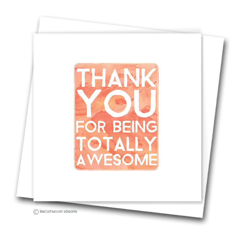 Totally Awesome Thank You Card Biscuitmoon Designs