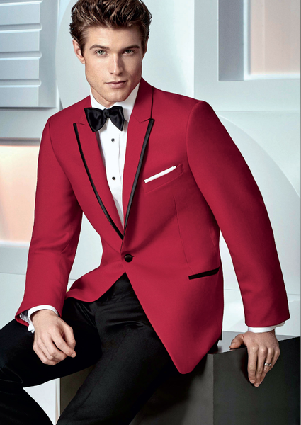 10 Savvi Black Label Red Carter Slim Fit - Rental - Jordan's Modern Bride and Groom