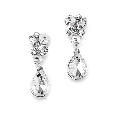 Crystal Bridal or Bridesmaid Earrings - Jordan's Modern Bride and Groom