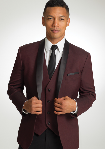 11 Ike Behar Burgundy Camden - Rental - Jordan's Modern Bride and Groom