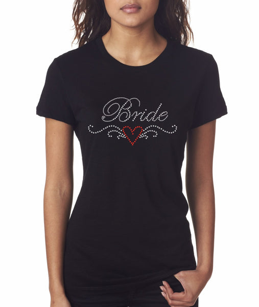 """Bride4"" Rhinestone T-Shirt - Jordan's Modern Bride and Groom"