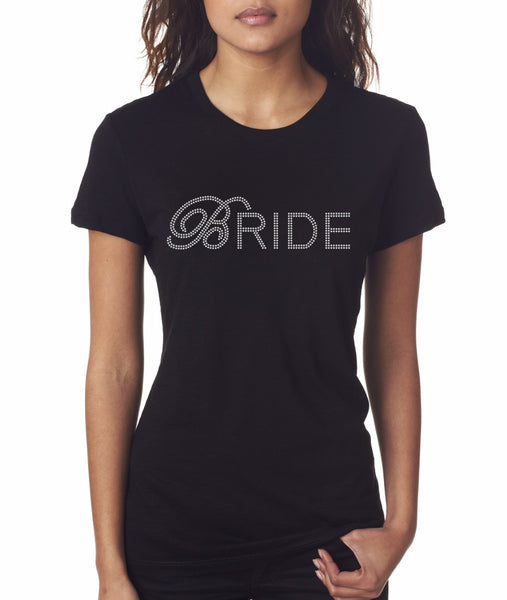 """Bride2"" Rhinestone T-Shirt - Jordan's Modern Bride and Groom"