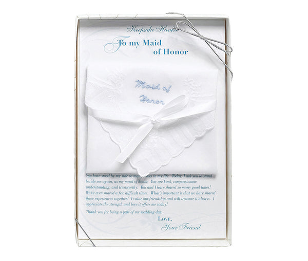 Maid of Honor Hankie by Lillian Rose - Jordan's Modern Bride and Groom
