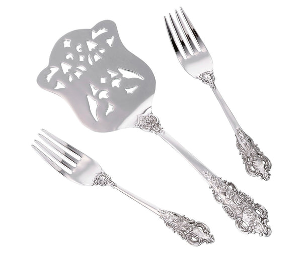 Silver Server & Two Forks Set by Lillian Rose - Jordan's Modern Bride and Groom