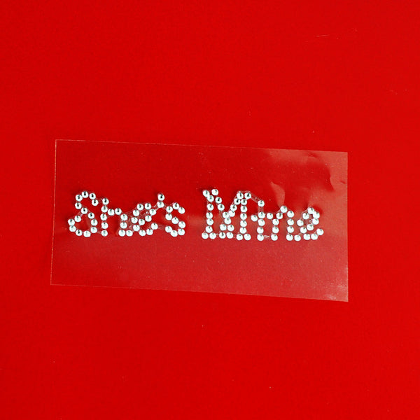 She's Mine Shoe Stickers - Jordan's Modern Bride and Groom