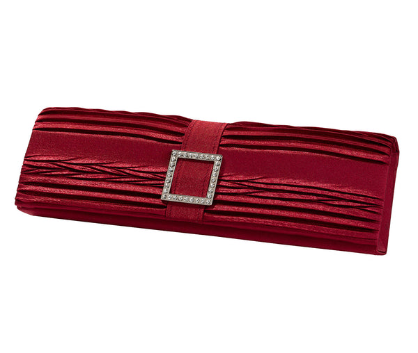 Red Clutch Handbag by Lillian Rose
