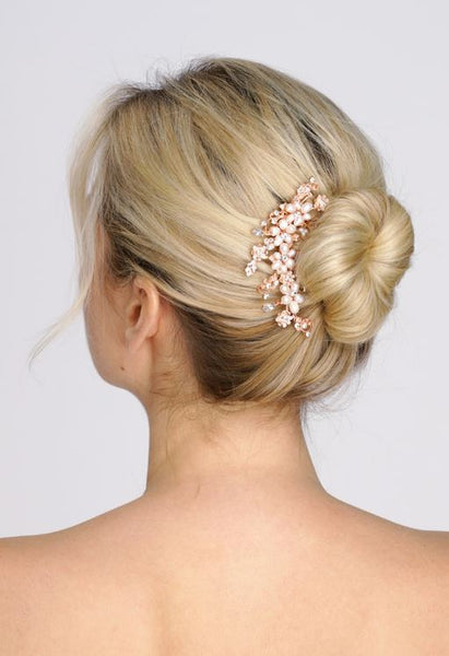 Top-Selling Freshwater Pearl and Rose Gold Bridal Comb - Jordan's Modern Bride and Groom