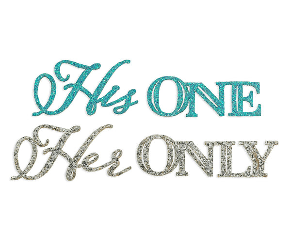 """His One/Her Only"" Shoe Sticker Set by Lillian Rose - Jordan's Modern Bride and Groom"