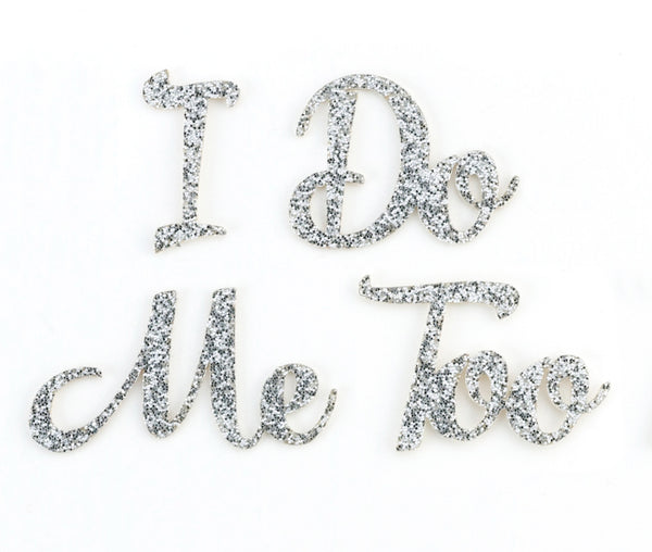 """I Do"" & ""Me Too"" Shoe Sticker Set by Lillian Rose - Jordan's Modern Bride and Groom"