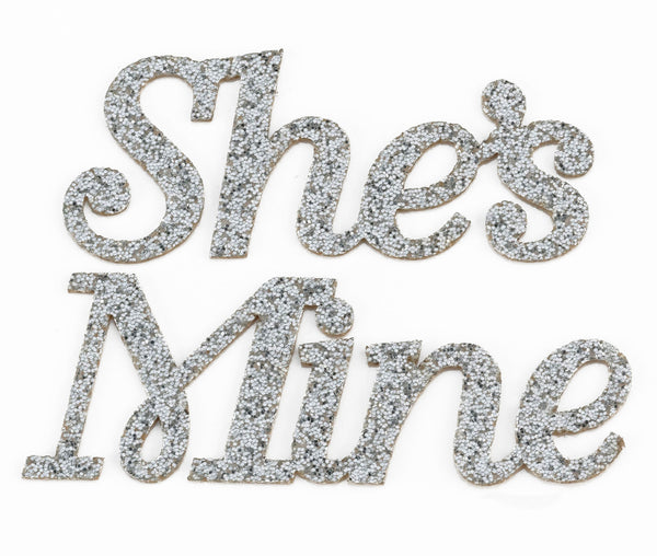 """She's"" Mine Shoe Stickers by Lillian Rose - Jordan's Modern Bride and Groom"