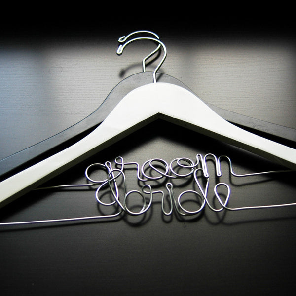 Bride & Groom Hanger Set - Jordan's Modern Bride and Groom