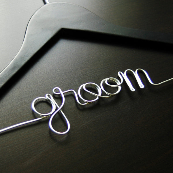 Groom Hanger - Jordan's Modern Bride and Groom