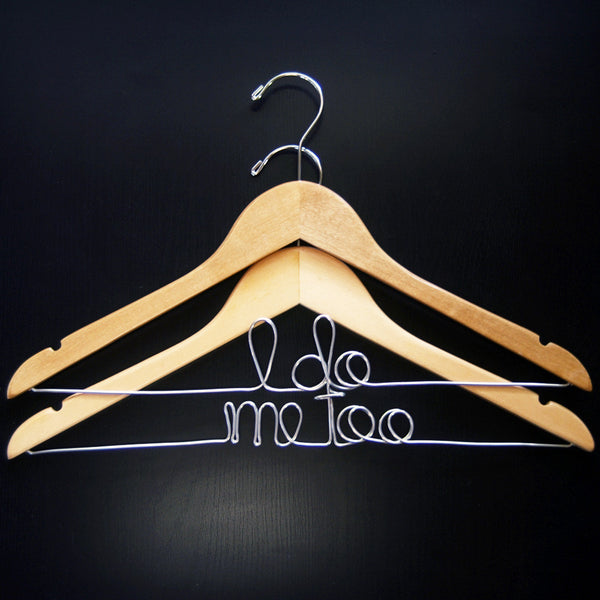 I Do Me Too Hanger Set - Jordan's Modern Bride and Groom