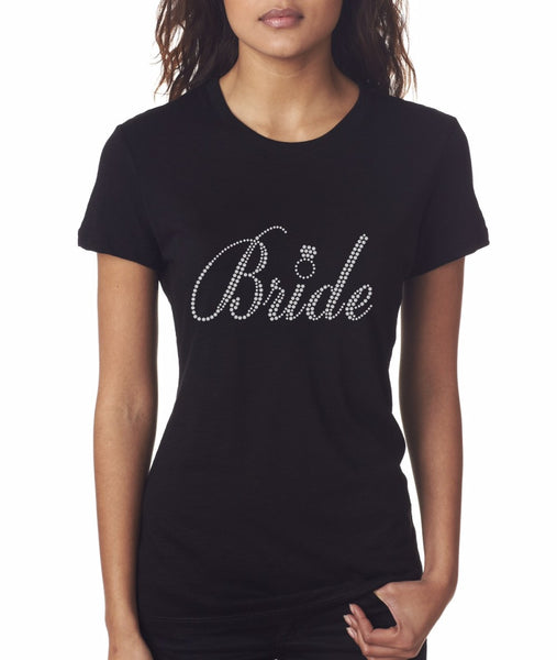 """Bride5"" Rhinestone T-Shirt - Jordan's Modern Bride and Groom"