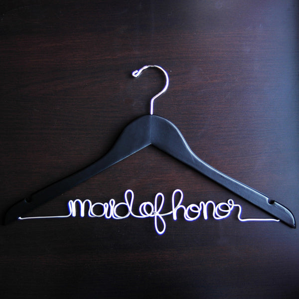 Maid of Honor Hanger - Jordan's Modern Bride and Groom