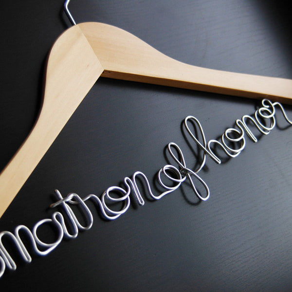 Matron of Honor Hanger - Jordan's Modern Bride and Groom