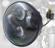 "7"" LED Headlight - 45W (Black Only) - PAIR - Moto Lights Australia"