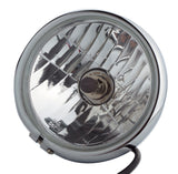 Headlight, 5.75'' Chrome, Vintage, Classic Retro, Cafe Style - Moto Lights Australia