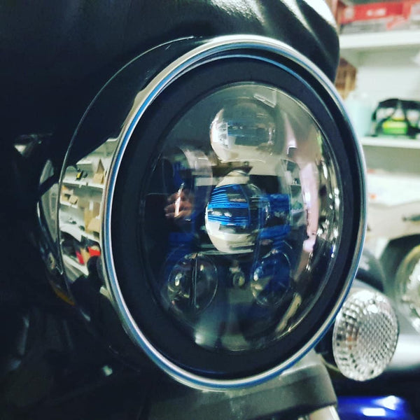 YAMAHA 5.75' 50W LED Headlight - Moto Lights Australia