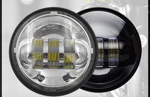 "4.5"" LED Aux/Fog Lamps  - Pair (Black/Chrome)(Halo Optional) - Moto Lights Australia"