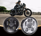 "5.75"" LED Headlight - 50W (Black/Chrome) - Moto Lights Australia"