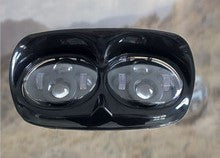 5.75'' LED Headlight - Harley Road Glide (Black/Chrome) - Moto Lights Australia