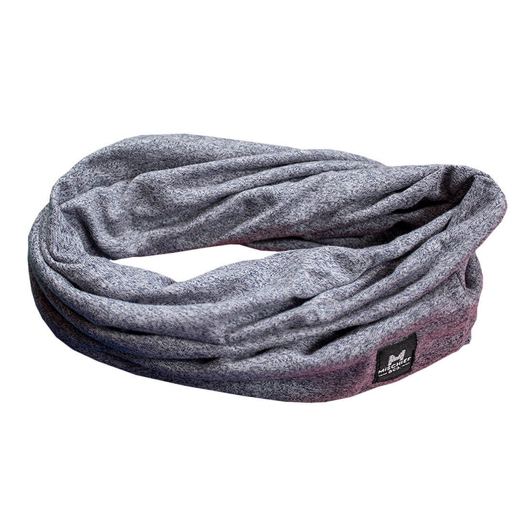 The Loop - Scarf Slouchy Beanie - Light Grey