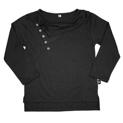 The Cluster - Luxe Straight Hem Tee - Jet-Black