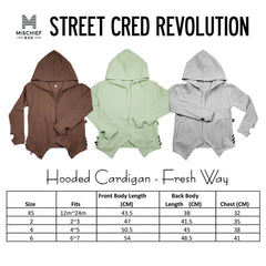 Hooded Cardigan - Fresh Way | Coffee Colour