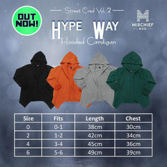 Hooded Cardigan - Hype Way  | Deep Teal Colour