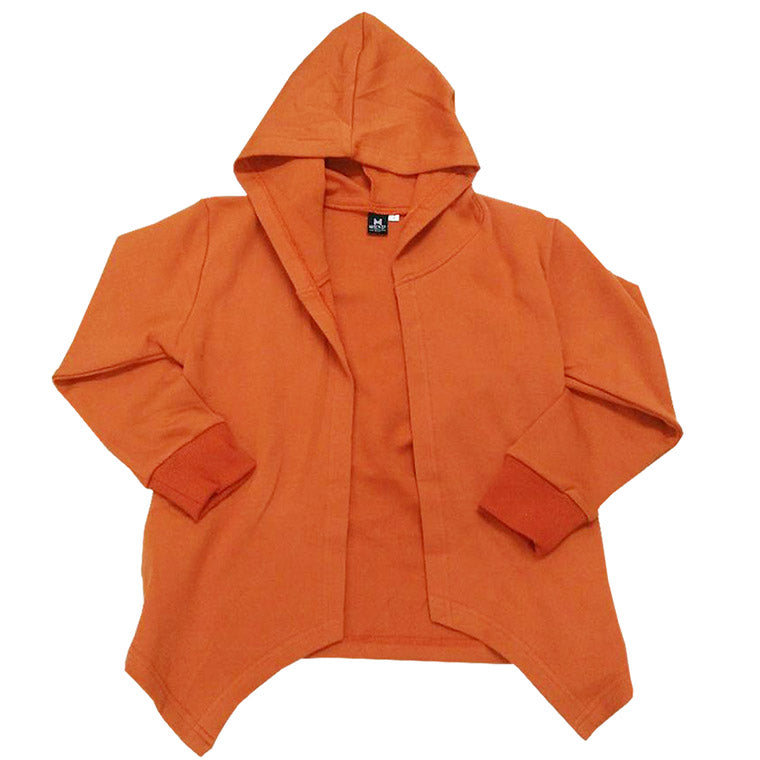 Hooded Cardigan - Hype Way  | Tangerine Colour