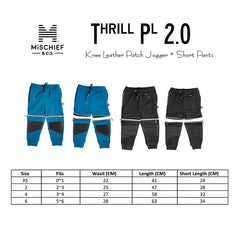 Knee Leather Patch Jogger + Short Pants - Thrill Pl 2.0
