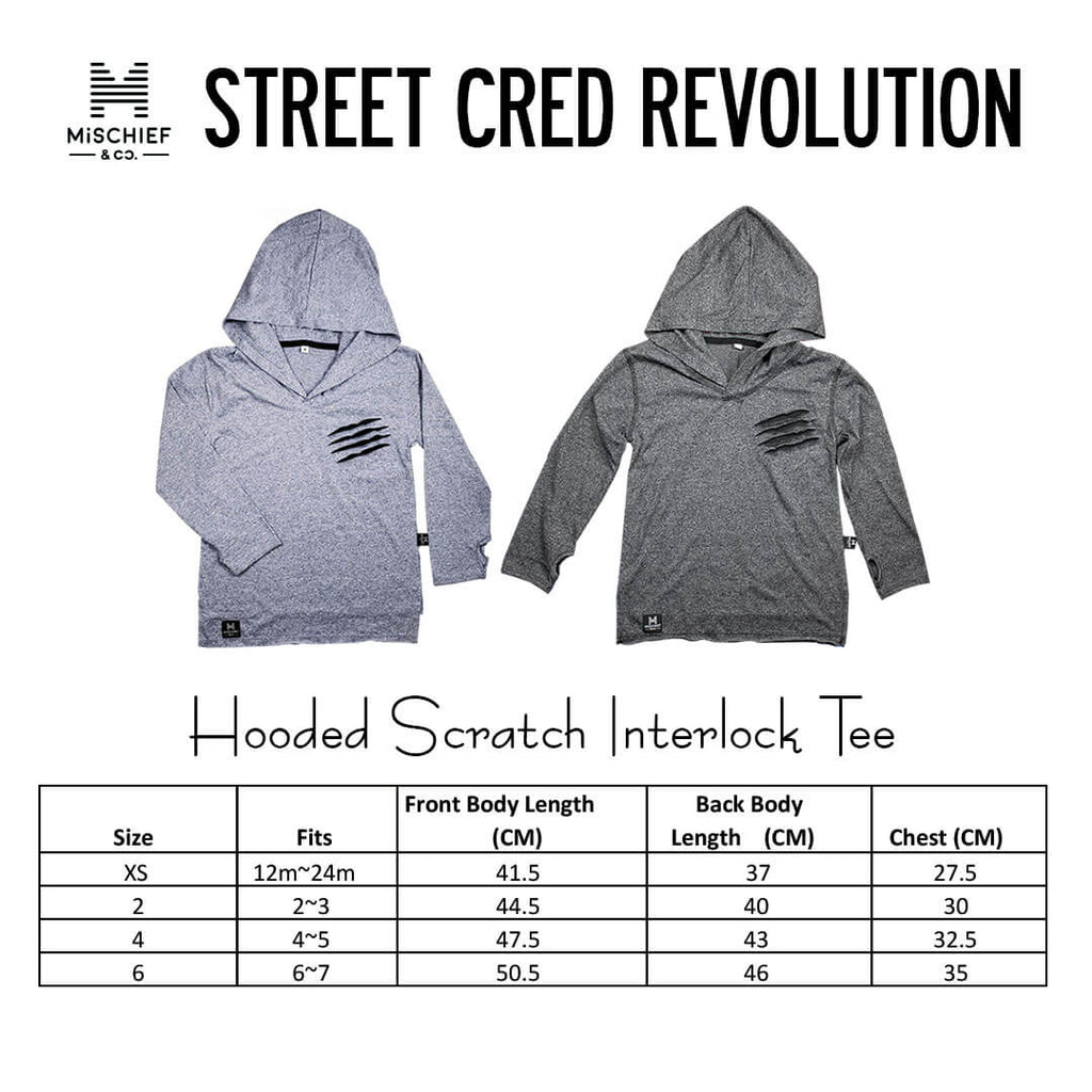 Hooded Scratch Interlock Tee | Blue Colour | Limited Edition
