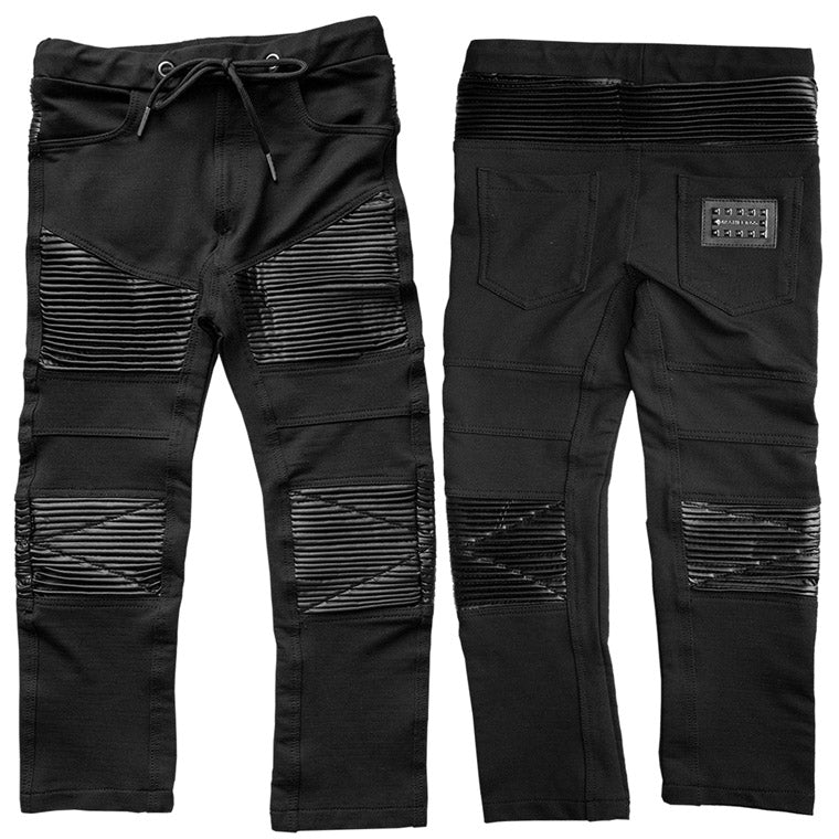The M-503 - Soft Denim Leather Pants - Black