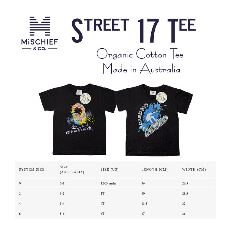 Cool Street Stoked Tee | Organic Cotton Tee | Made in Australia