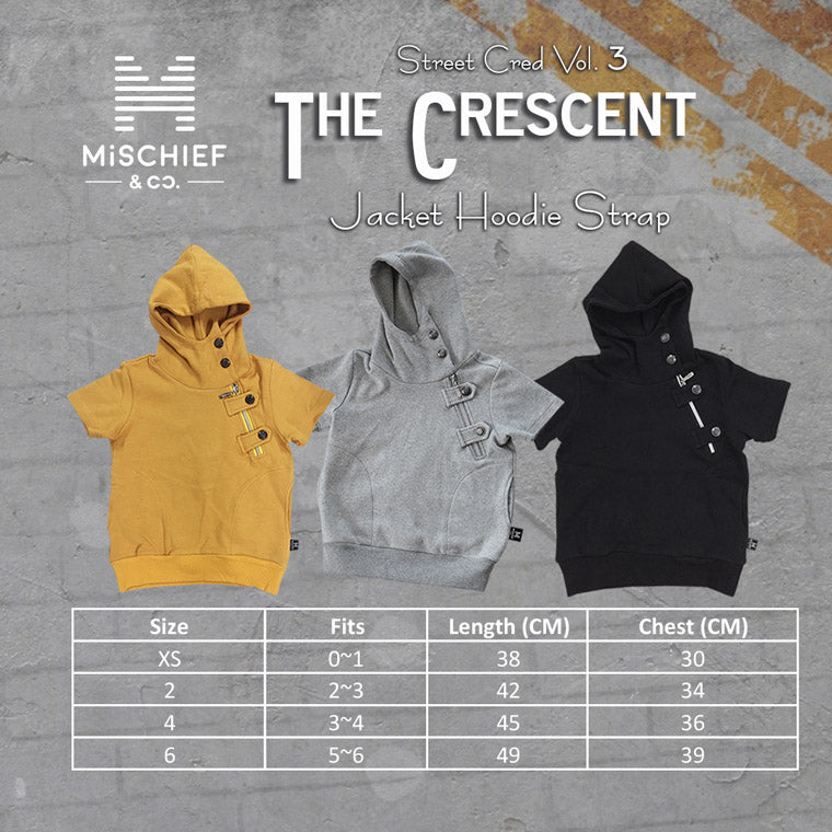 The Crescent - Luxe Jacket Hoodie Strap - Mustard
