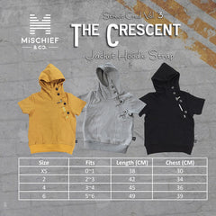 The Crescent - Luxe Jacket Hoodie Strap - Black