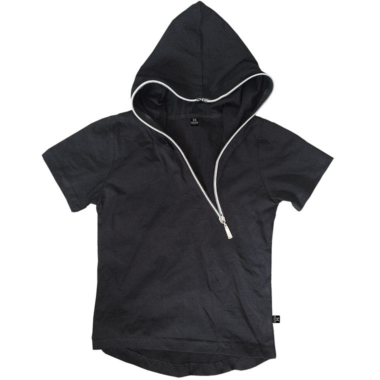 The Edge - Zip Hoodie Tee - Black