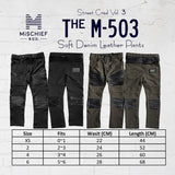 The M-503 - Soft Denim Leather Pants