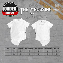 The Crossing - Luxe Mesh Zip Tee
