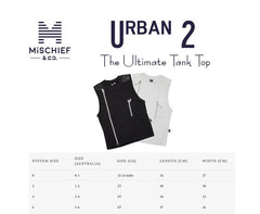 Urban 2 - The Ultimate Tank Top - Black