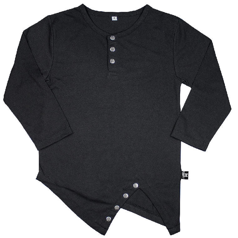The Vertex - Asymmetric Luxe Tee - Jet-Black