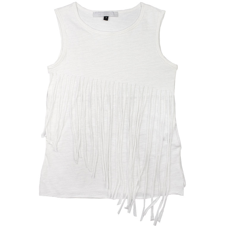 Tassel Tee - Boho Edition - White - Mischief & Co.