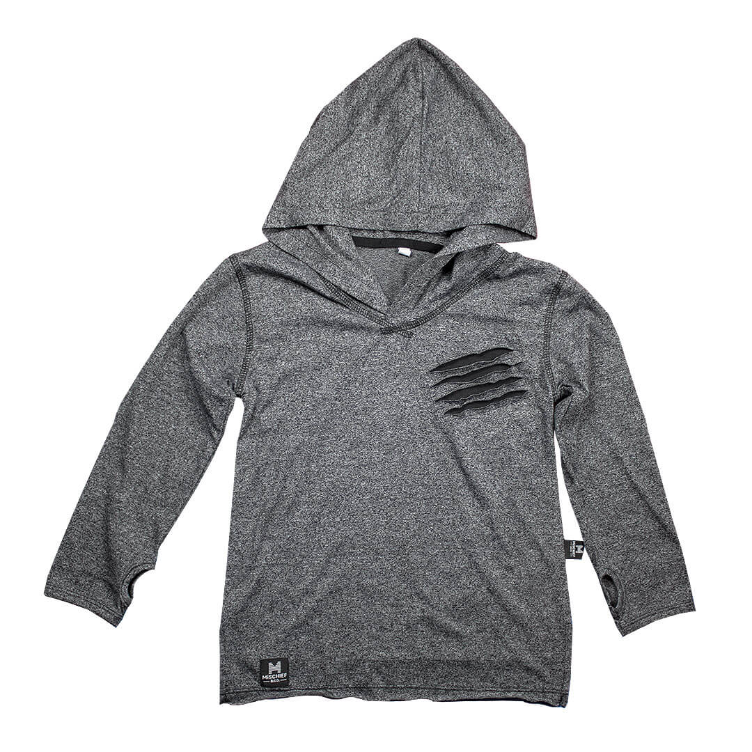 Hooded Scratch Interlock Tee | Grey Colour | Limited Edition