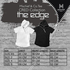 The Edge - Zip Hoodie Tee - White