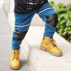 Knee Leather Patch Jogger + Short Pants - Thrill Pl 2.0 - Blue