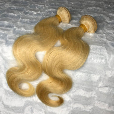 Platinum Blonde BODY WAVE Hair Bundles 2pcs