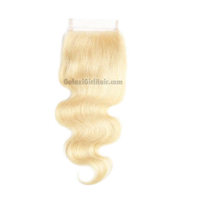 Platinum Blonde BODY WAVE Lace Closure
