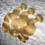 Platinum Blonde BODY WAVE Hair Bundles 3pcs